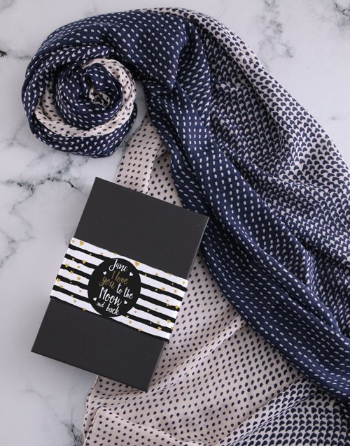 anniversary: Personalised To The Moon And Back Scarf Gift!