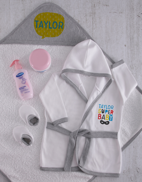 baby: Personalised Super Baby Spoil Set!