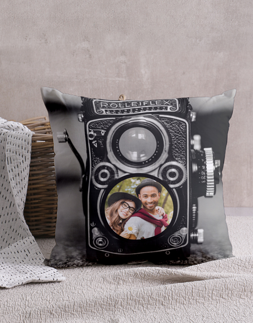 christmas: Personalised Vintage Camera Cushion!
