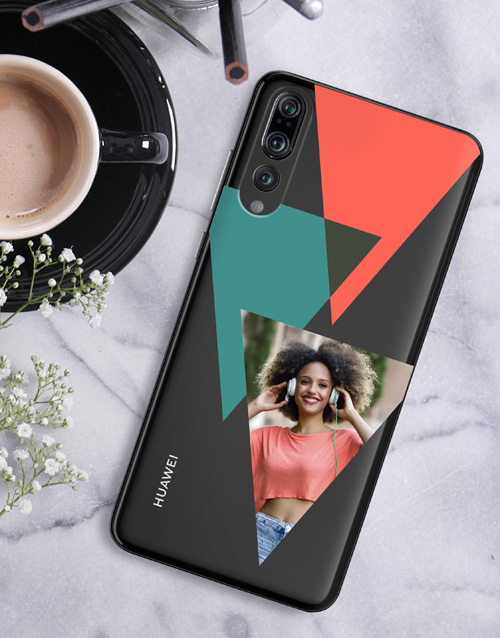 personalised: Personalised Triangle Photo Huawei Cover!