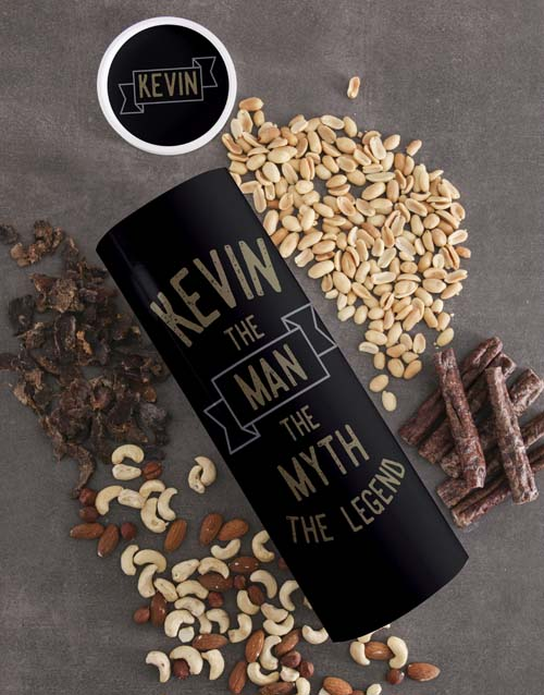 gourmet: Personalised Legend Biltong and Nut Tube!