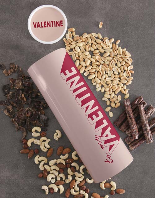 valentines-day: Personalised Valentine Biltong and Nut Tube!