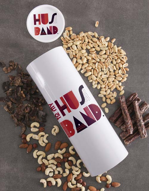 gourmet: Personalised Husband Biltong and Nut Tube!