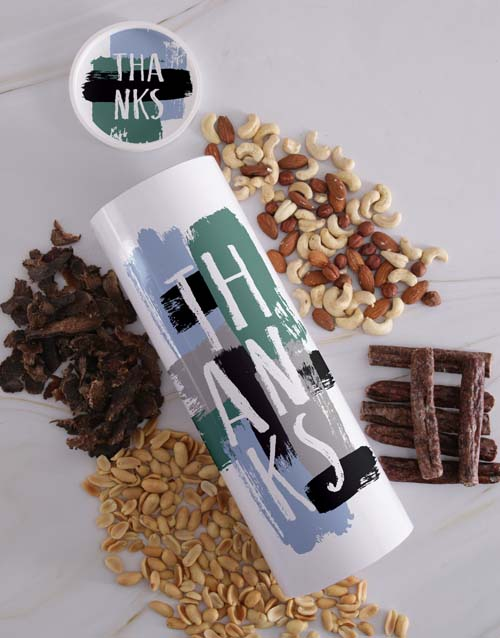 personalised: Personalised Thanks Biltong and Nut Tube!