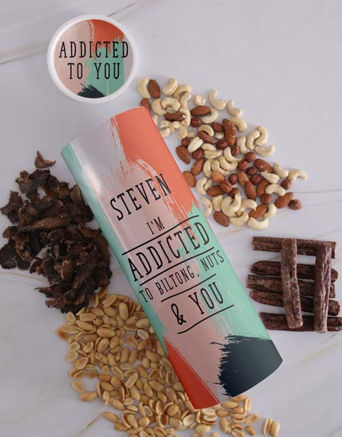 valentines-day: Personalised Addicted Biltong and Nut Tube!