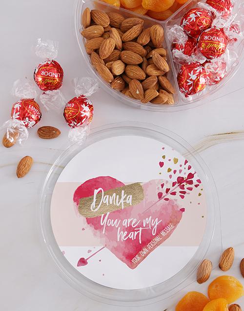 christmas: Personalised Lovers Delight Nut Tub!