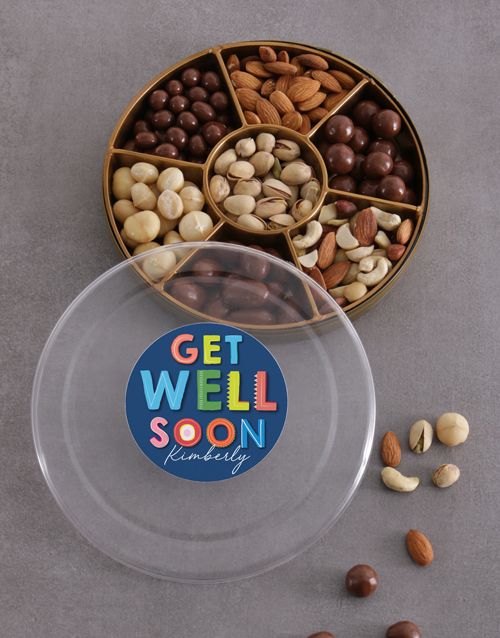 gourmet: Personalised Get Well Nuts Tray!