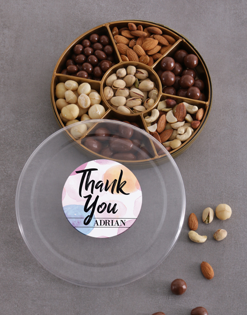 gourmet: Personalised Thank You Nuts Tray!