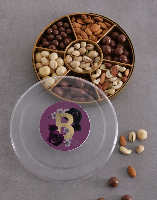 gourmet: Personalised Initial Nuts Tray!