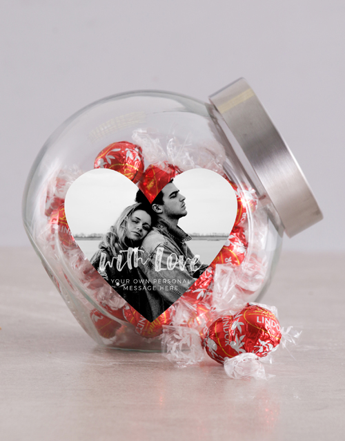 chocolate: Personalised Photo With Love Candy Jar!