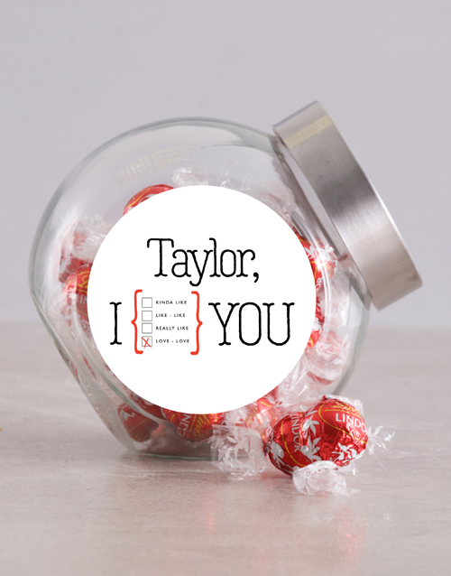 chocolate: Personalised I Love Love You Candy Jar!