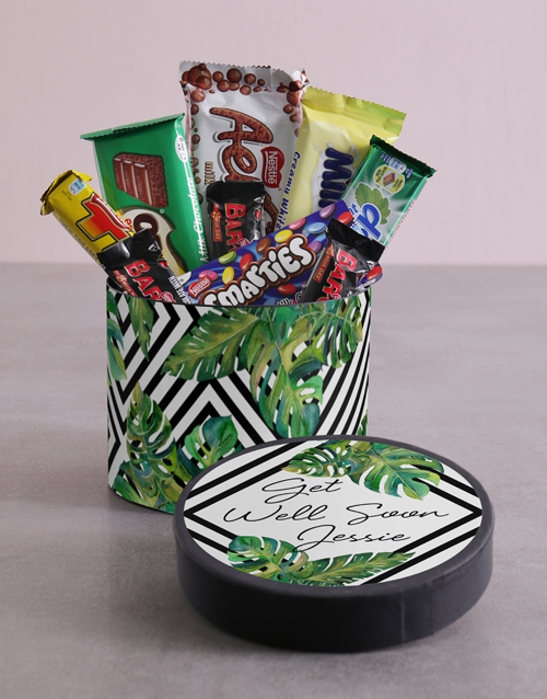 personalised: Personalised Get Well Soon Leafy Hat Box!