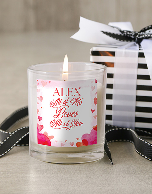 personalised: Personalised All Of Me Candle!