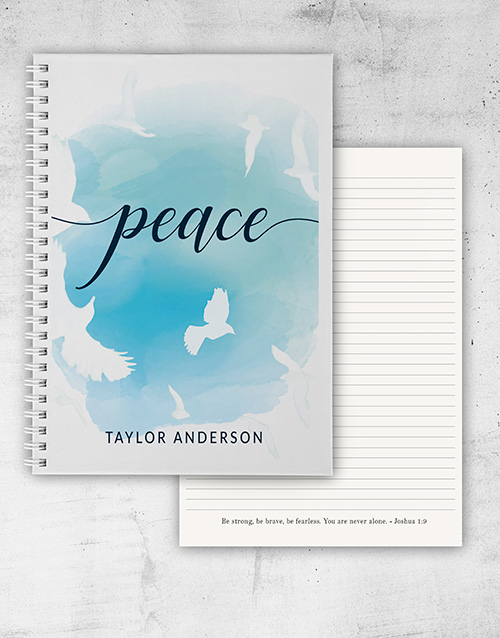 christmas: Personalised Peace and Faith Notebook!