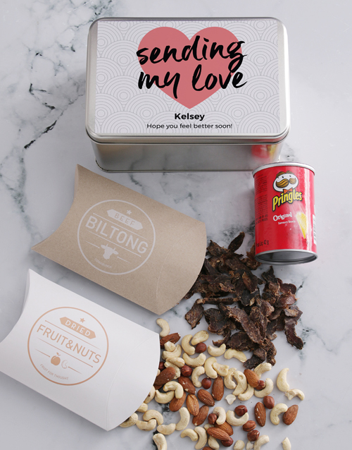 gourmet: Personalised Get Well Snack Tin!