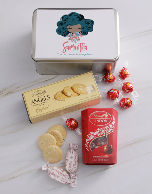 personalised: Personalised Floral Girl Snack Tin!
