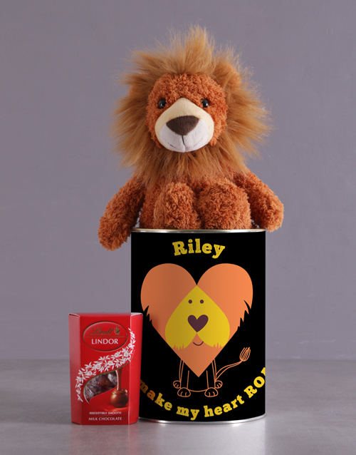 valentines-day: Personalised Royal Lion Tin!