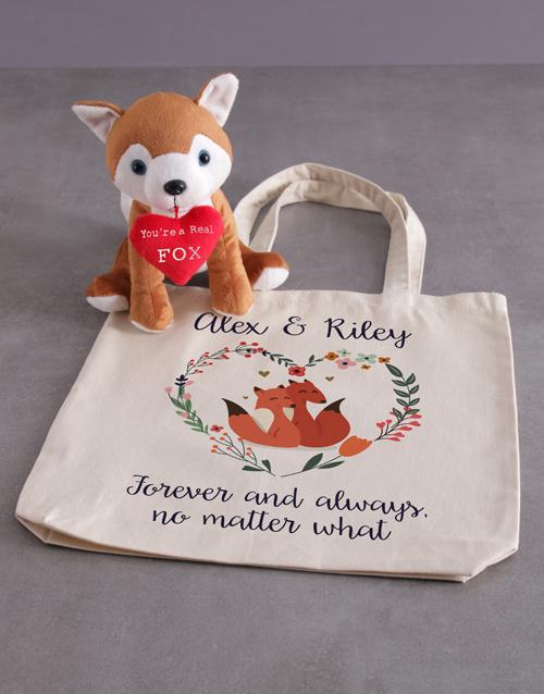 teddy-bears: Fox And Tote Bag Hamper!