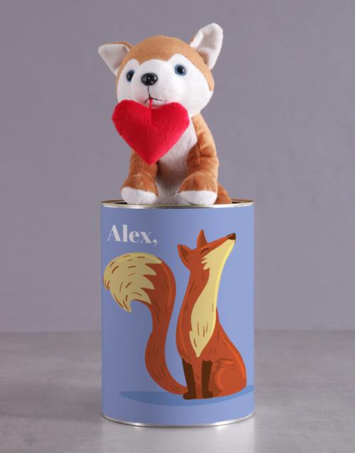 teddy-bears: Personalised Foxy Howl Hamper!