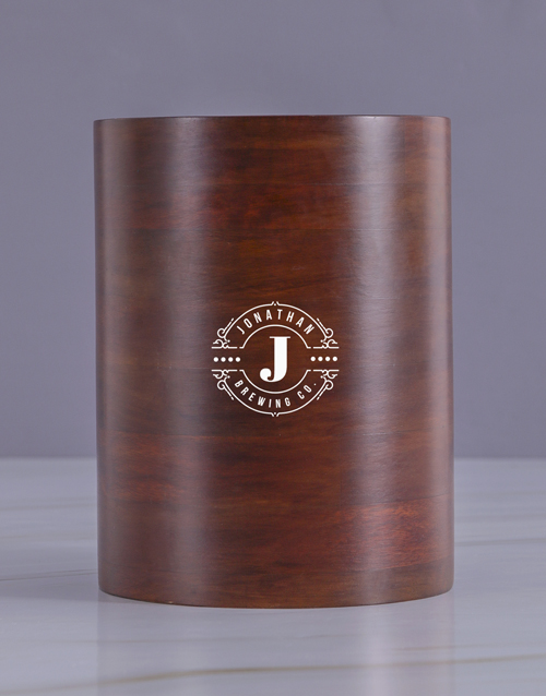 birthday: Personalised Brewing Co Wooden Ice Bucket!