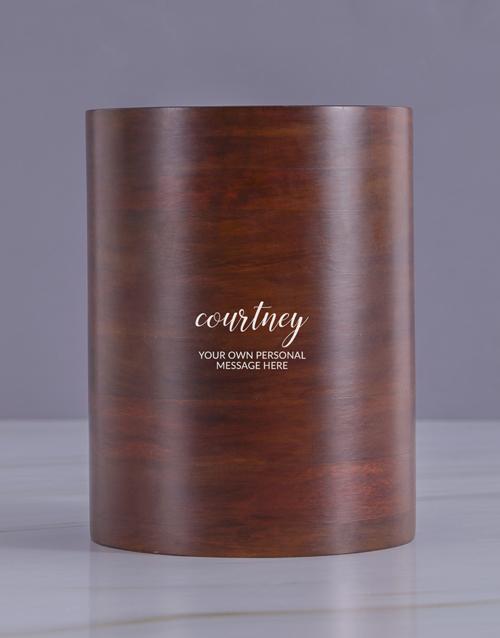 birthday: Personalised Cursive Wooden Ice Bucket !