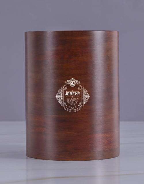 fathers-day: Personalised Badge Wooden Ice Bucket !