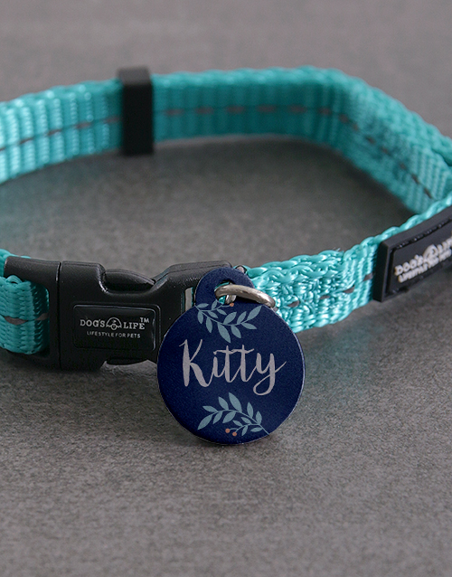 pets: Personalised Leaf ID Tag And XS Collar!
