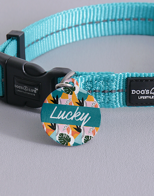 personalised: Personalised Tropical ID Tag And Collar!