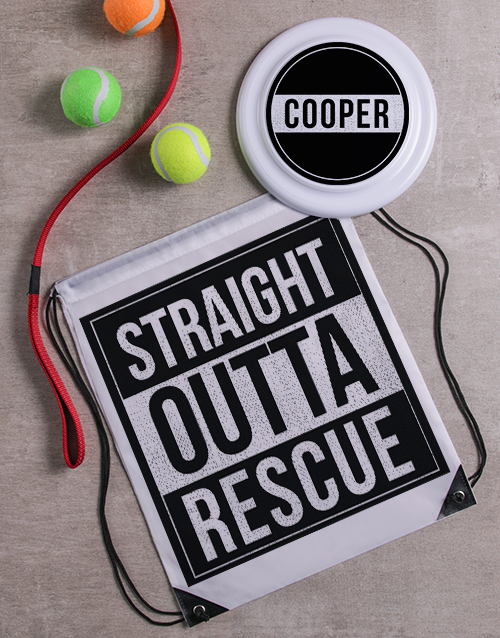 personalised: Personalised Rescue Frisbee And Bag!