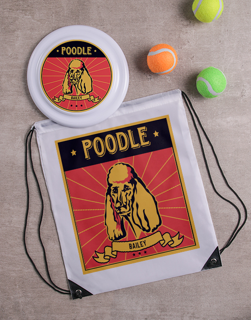 personalised: Personalised Poodle Dog Set!