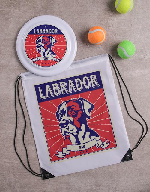personalised: Personalised Labrador Dog Set!