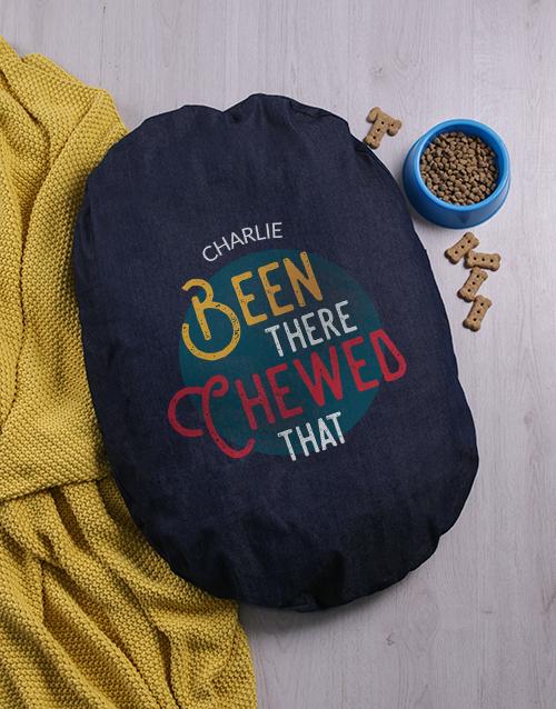 personalised: Personalised Chewed That Denim Bed!