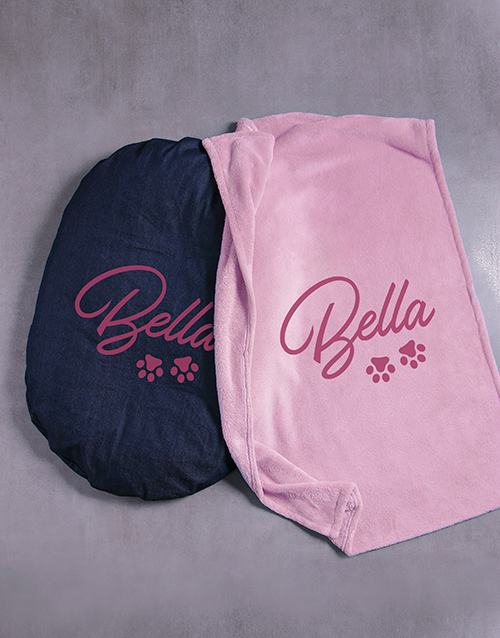 personalised: Personalised Paws Dog Bed And Blanket!