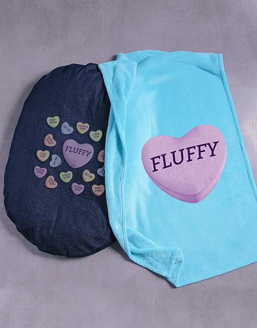 personalised: Personalised Sweet Dog Bed And Blanket!