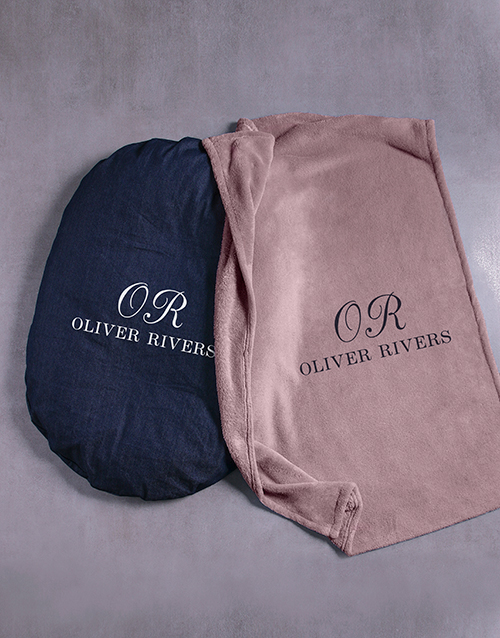 personalised: Personalised Initial Dog Bed And Blanket!