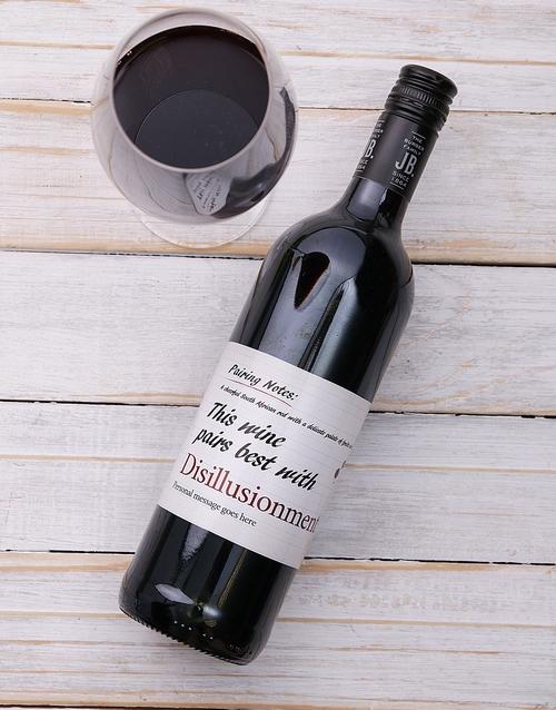 personalised: Personalised Pairing Red Wine!