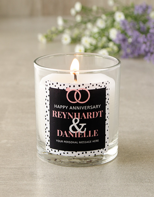 personalised: Personalised Anniversary Candle!