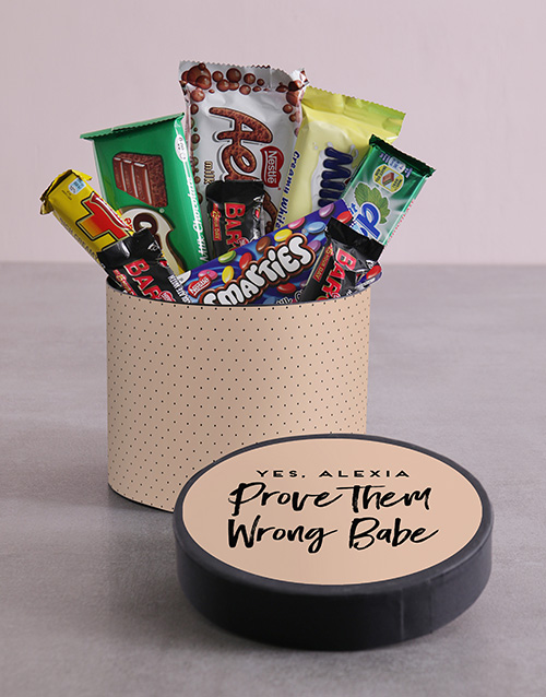 personalised: Personalised Babe Hat Box with Treats!