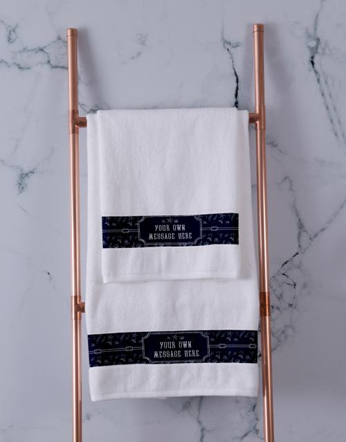 mothers-day: Personalised Coastal White Towel Set!