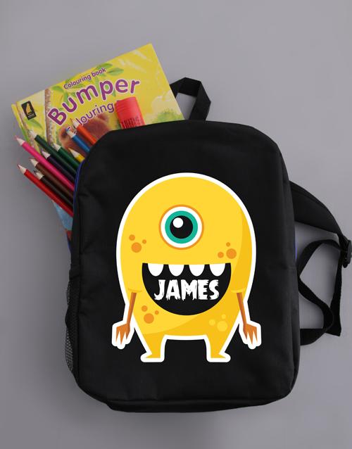 kids: Personalised Alien Boys Backpack!