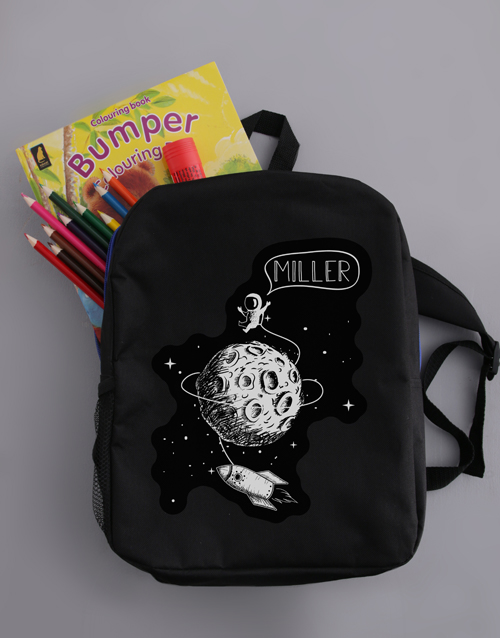 kids: Personalised Moon Boys Backpack!