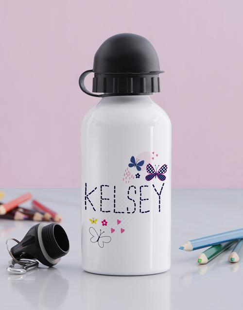 kids: Personalised Butterfly Girls Bottle!
