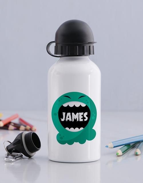 kids: Personalised Alien Boys Bottle!