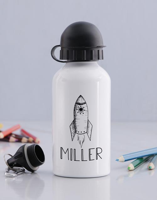 kids: Personalised Rocket Boys Bottle!