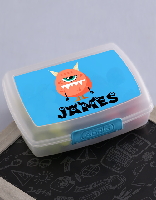 kids: Personalised Monster Boys Lunch Box!