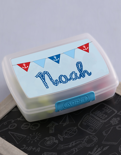gifts: Personalised Sailor Boys Lunch Box!