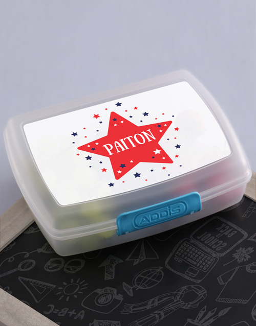gifts: Personalised Star Kids Lunch Box!