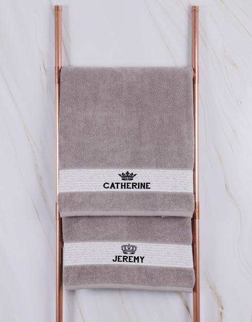 anniversary: Personalised Royal Stone Towel Set!