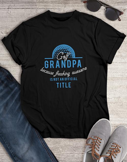 grandparents-day: Personalised Golf Grandpa Shirt!