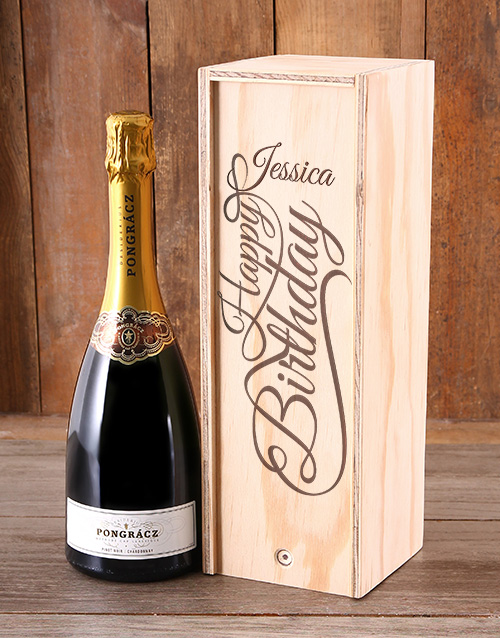 personalised: Personalised Birthday Bubbly Crate!